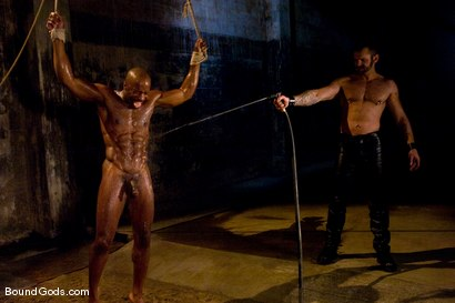 Photo number 4 from South of Market Pickup shot for Bound Gods on Kink.com. Featuring Race Cooper and Tober Brandt in hardcore BDSM & Fetish porn.