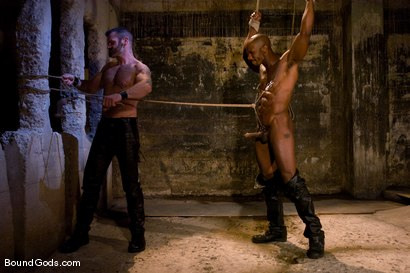 Photo number 1 from South of Market Pickup shot for Bound Gods on Kink.com. Featuring Race Cooper and Tober Brandt in hardcore BDSM & Fetish porn.