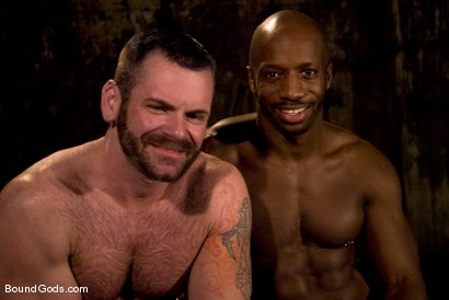 Photo number 15 from South of Market Pickup shot for Bound Gods on Kink.com. Featuring Race Cooper and Tober Brandt in hardcore BDSM & Fetish porn.