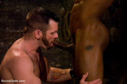 Photo number 9 from South of Market Pickup shot for Bound Gods on Kink.com. Featuring Race Cooper and Tober Brandt in hardcore BDSM & Fetish porn.