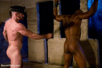 Photo number 7 from South of Market Pickup shot for Bound Gods on Kink.com. Featuring Race Cooper and Tober Brandt in hardcore BDSM & Fetish porn.