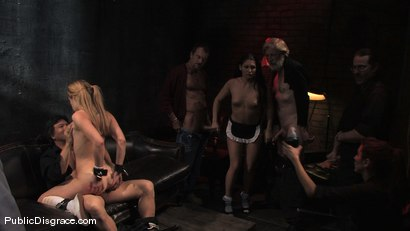 Photo number 13 from Dirty old men get serviced by 18 year old sluts in white panties! shot for Public Disgrace on Kink.com. Featuring Ally Ann, Randy Spears and Miss Jade Indica in hardcore BDSM & Fetish porn.
