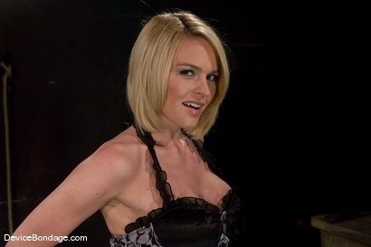 Photo number 2 from Krissy Lynn<br> Big titted, blond, trapped in the big squeeze. shot for Device Bondage on Kink.com. Featuring Krissy Lynn in hardcore BDSM & Fetish porn.