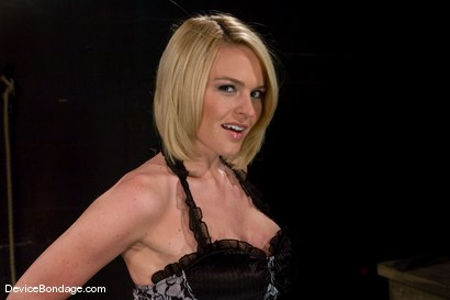 Photo number 1 from Krissy Lynn   Hot Californian blond, suffers her first foot torment. shot for Device Bondage on Kink.com. Featuring Krissy Lynn in hardcore BDSM & Fetish porn.