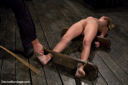 Photo number 5 from Krissy Lynn<br> Hot Californian blond, suffers her first foot torture. shot for Device Bondage on Kink.com. Featuring Krissy Lynn in hardcore BDSM & Fetish porn.
