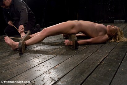 Photo number 11 from Krissy Lynn<br> Hot Californian blond, suffers her first foot torture. shot for Device Bondage on Kink.com. Featuring Krissy Lynn in hardcore BDSM & Fetish porn.