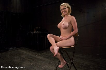 Photo number 15 from Krissy Lynn<br> Hot Californian blond, suffers her first foot torture. shot for Device Bondage on Kink.com. Featuring Krissy Lynn in hardcore BDSM & Fetish porn.