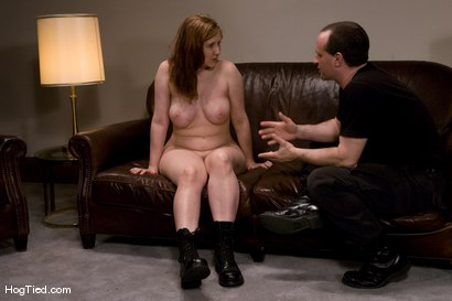 Photo number 13 from Casting Couch 12: Nerine is the Real Deal bondage slut shot for Hogtied on Kink.com. Featuring Nerine Mechanique in hardcore BDSM & Fetish porn.