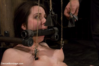 Photo number 14 from Winter Sky<br>Scared local girl over cums<br>her fear and suffers beautifully for her pleasure. shot for Device Bondage on Kink.com. Featuring Winter Sky in hardcore BDSM & Fetish porn.