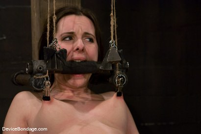 Photo number 12 from Winter Sky<br>Scared local girl over cums<br>her fear and suffers beautifully for her pleasure. shot for Device Bondage on Kink.com. Featuring Winter Sky in hardcore BDSM & Fetish porn.