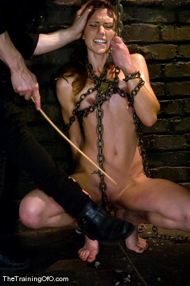 Photo number 5 from Candidate #35 shot for The Training Of O on Kink.com. Featuring Maestro and Delilah Knight in hardcore BDSM & Fetish porn.
