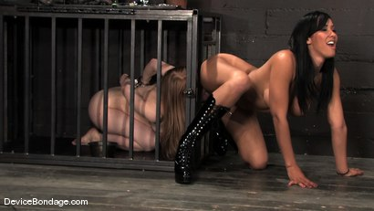Photo number 4 from Madison, Sindee Jennings and Isis Love<br> Part 3 of 4 of the April live feed. shot for Device Bondage on Kink.com. Featuring Madison Young, Isis Love and Sindee Jennings in hardcore BDSM & Fetish porn.