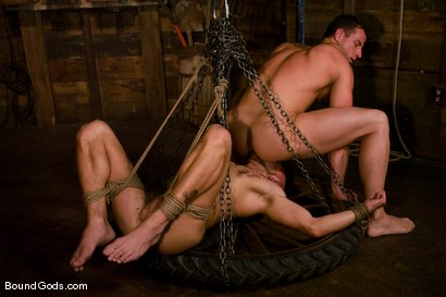 Photo number 12 from The Farmer and The Punk shot for Bound Gods on Kink.com. Featuring Drake Jaden and Rusty Stevens in hardcore BDSM & Fetish porn.
