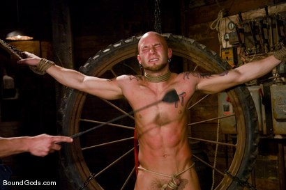 Photo number 3 from The Farmer and The Punk shot for Bound Gods on Kink.com. Featuring Drake Jaden and Rusty Stevens in hardcore BDSM & Fetish porn.