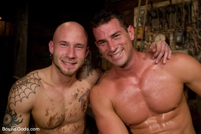 Photo number 15 from The Farmer and The Punk shot for Bound Gods on Kink.com. Featuring Drake Jaden and Rusty Stevens in hardcore BDSM & Fetish porn.