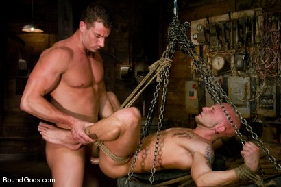 Photo number 14 from The Farmer and The Punk shot for Bound Gods on Kink.com. Featuring Drake Jaden and Rusty Stevens in hardcore BDSM & Fetish porn.
