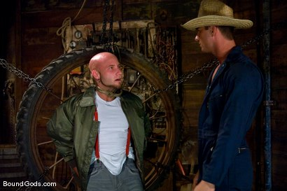 Photo number 1 from The Farmer and The Punk shot for Bound Gods on Kink.com. Featuring Drake Jaden and Rusty Stevens in hardcore BDSM & Fetish porn.