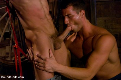Photo number 4 from The Farmer and The Punk shot for Bound Gods on Kink.com. Featuring Drake Jaden and Rusty Stevens in hardcore BDSM & Fetish porn.