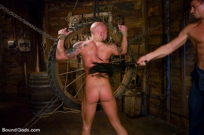 Photo number 7 from The Farmer and The Punk shot for Bound Gods on Kink.com. Featuring Drake Jaden and Rusty Stevens in hardcore BDSM & Fetish porn.