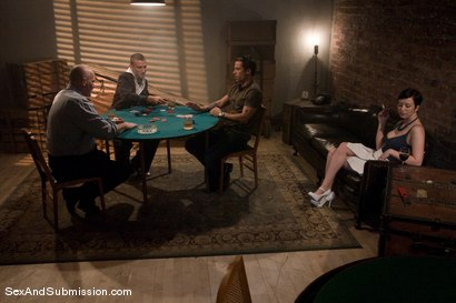 Photo number 1 from The Poker Game shot for Sex And Submission on Kink.com. Featuring Cherry Torn, Mark Davis, Mr. Pete and Alan Stafford in hardcore BDSM & Fetish porn.