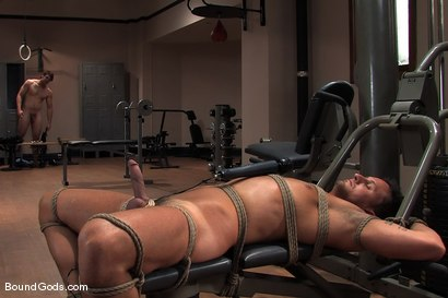 Photo number 4 from Bondage Gym shot for Bound Gods on Kink.com. Featuring Colby Keller and Dakota Rivers in hardcore BDSM & Fetish porn.