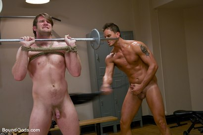 Photo number 7 from Bondage Gym shot for Bound Gods on Kink.com. Featuring Colby Keller and Dakota Rivers in hardcore BDSM & Fetish porn.
