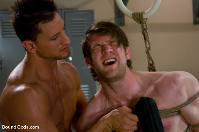 Photo number 10 from Bondage Gym shot for Bound Gods on Kink.com. Featuring Colby Keller and Dakota Rivers in hardcore BDSM & Fetish porn.