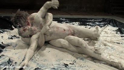 Photo number 8 from Colby Keller vs Dakota Rivers<br />The Mud Match shot for Naked Kombat on Kink.com. Featuring Colby Keller and Dakota Rivers in hardcore BDSM & Fetish porn.