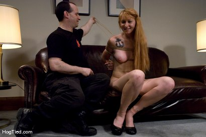 Photo number 13 from Casting Couch 11: Scarlet Von Pink Red Headed Amazon! shot for Hogtied on Kink.com. Featuring Scarlette Von Pink in hardcore BDSM & Fetish porn.