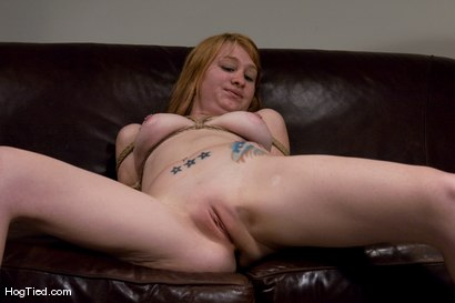 Photo number 6 from Casting Couch 11: Scarlet Von Pink Red Headed Amazon! shot for Hogtied on Kink.com. Featuring Scarlette Von Pink in hardcore BDSM & Fetish porn.