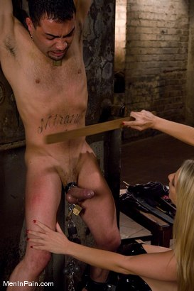 Photo number 4 from Fresh Blonde Dominatrix Brings the Pain shot for Men In Pain on Kink.com. Featuring Jordan Kingsley and Rico in hardcore BDSM & Fetish porn.