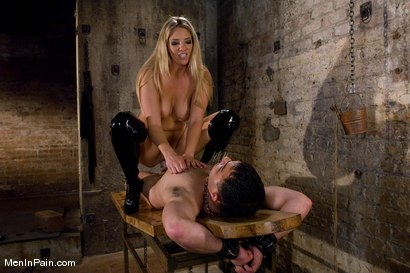 Photo number 3 from Fresh Blonde Dominatrix Brings the Pain shot for Men In Pain on Kink.com. Featuring Jordan Kingsley and Rico in hardcore BDSM & Fetish porn.