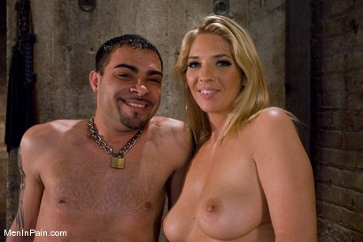 Photo number 15 from Fresh Blonde Dominatrix Brings the Pain shot for Men In Pain on Kink.com. Featuring Jordan Kingsley and Rico in hardcore BDSM & Fetish porn.