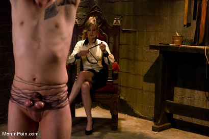 Photo number 2 from My Little Cunt shot for Men In Pain on Kink.com. Featuring Maitresse Madeline Marlowe  and Dean Strong in hardcore BDSM & Fetish porn.