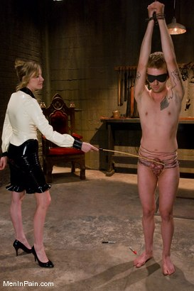 Photo number 6 from My Little Cunt shot for Men In Pain on Kink.com. Featuring Maitresse Madeline Marlowe  and Dean Strong in hardcore BDSM & Fetish porn.