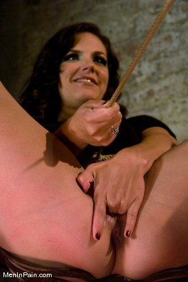 Photo number 2 from Gorgeous Dominatrix teaches Pussy Worship shot for Men In Pain on Kink.com. Featuring Bobbi Starr and Jack Hammer in hardcore BDSM & Fetish porn.