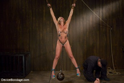 Photo number 12 from Felony<br> Hot big titted MILF<br>Category 5 suspension. shot for Device Bondage on Kink.com. Featuring Felony in hardcore BDSM & Fetish porn.