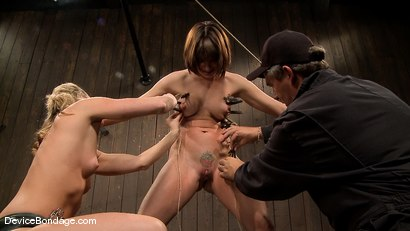 Photo number 4 from Dana DeArmond, Nika Noire and Ariel X<br> Part 4 of 4 of the May Live Feed shot for Device Bondage on Kink.com. Featuring Nika Noire, Ariel X and Dana DeArmond in hardcore BDSM & Fetish porn.