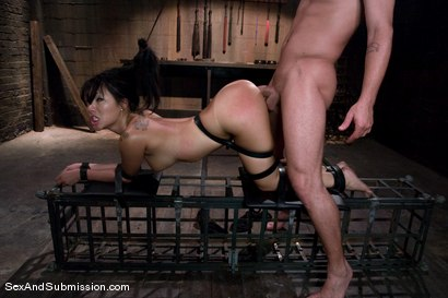 Photo number 9 from Asa Akira: First Time Fucked in Bondage shot for Sex And Submission on Kink.com. Featuring Mr. Pete and Asa Akira in hardcore BDSM & Fetish porn.