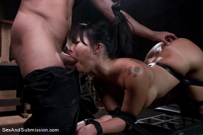 Photo number 11 from Asa Akira: First Time Fucked in Bondage shot for Sex And Submission on Kink.com. Featuring Mr. Pete and Asa Akira in hardcore BDSM & Fetish porn.