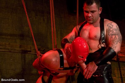 Photo number 6 from Slicked Up Dak Ramsey shot for Bound Gods on Kink.com. Featuring Mitch Colby and Dak Ramsey in hardcore BDSM & Fetish porn.