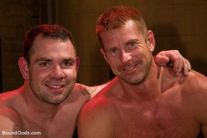 Photo number 15 from Slicked Up Dak Ramsey shot for Bound Gods on Kink.com. Featuring Mitch Colby and Dak Ramsey in hardcore BDSM & Fetish porn.