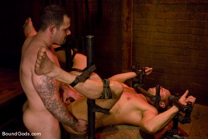 Photo number 14 from Slicked Up Dak Ramsey shot for Bound Gods on Kink.com. Featuring Mitch Colby and Dak Ramsey in hardcore BDSM & Fetish porn.