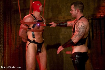 Photo number 8 from Slicked Up Dak Ramsey shot for Bound Gods on Kink.com. Featuring Mitch Colby and Dak Ramsey in hardcore BDSM & Fetish porn.