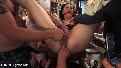 Photo number 13 from Amateur model gets humiliated and fucked in a barber shop shot for Public Disgrace on Kink.com. Featuring Maggie Mayhem and Mark Davis in hardcore BDSM & Fetish porn.