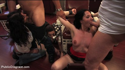 Photo number 10 from Amateur model gets humiliated and fucked in a barber shop shot for Public Disgrace on Kink.com. Featuring Maggie Mayhem and Mark Davis in hardcore BDSM & Fetish porn.