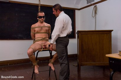 Photo number 2 from Kink University shot for Bound Gods on Kink.com. Featuring Zane Jacobs and Nick Moretti in hardcore BDSM & Fetish porn.