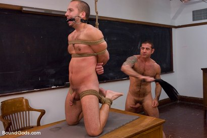 Photo number 9 from Kink University shot for Bound Gods on Kink.com. Featuring Zane Jacobs and Nick Moretti in hardcore BDSM & Fetish porn.