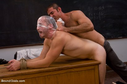 Photo number 10 from Kink University shot for Bound Gods on Kink.com. Featuring Zane Jacobs and Nick Moretti in hardcore BDSM & Fetish porn.