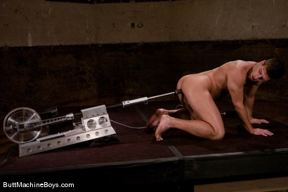 Photo number 10 from The Intruder MK ll Violates Derrek Diamond shot for Butt Machine Boys on Kink.com. Featuring Derrek Diamond in hardcore BDSM & Fetish porn.